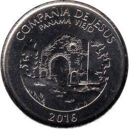"""Panama 1/2 Balboa 2016 """"Church of the Society of Jesus"""""""
