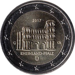 "Deutschland 2 Euro 2017 ""Porta Nigra""  ""G"""
