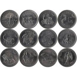 """Somaliland 12 x 10 Shillings 2006 """"Tierkreiszeichen"""""""