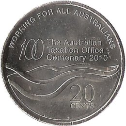 Australien 20 Cent 2010 The Australian Taxation Office
