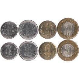 Indien 1, 2, 5, 10 Rupees 2011