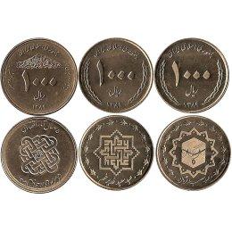 """Iran 3 x 1000 Rials 2010 """"Sonderumlaufmuenzen"""""""