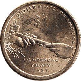 "USA 1 Dollar 2011 ""Native American"" P"